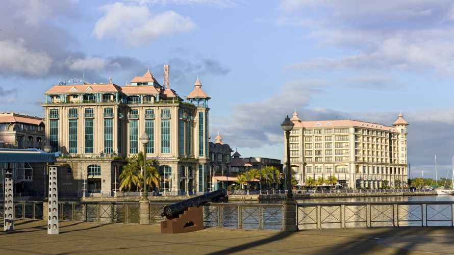 The Caudan Waterfront complex in Port Louis