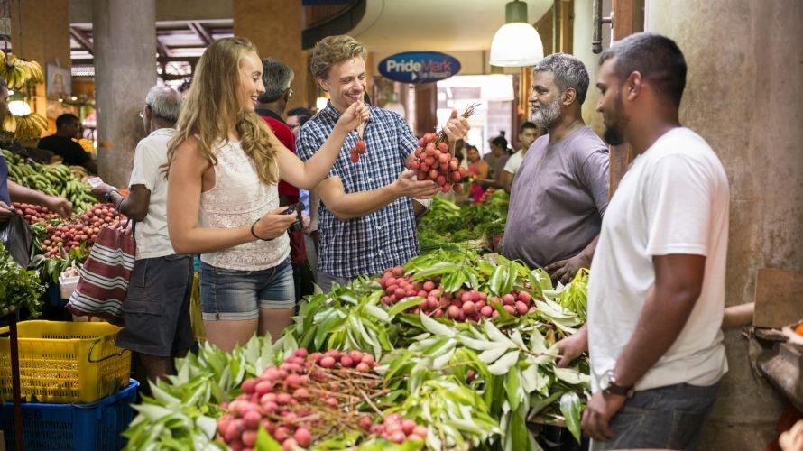 A visit to the market in Port Louis is a highlight for any holidaymaker