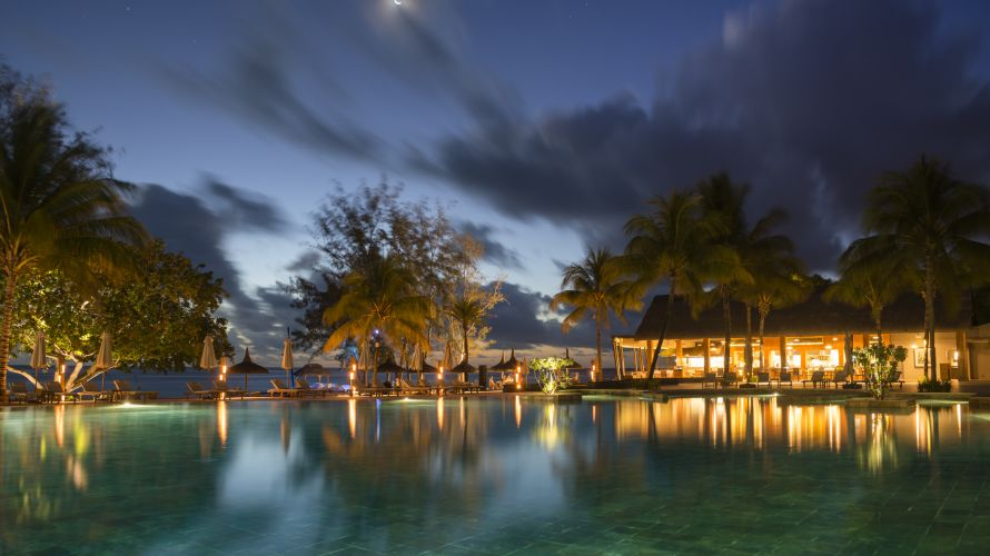 Nightlife romantic atmosphere on Mauritius
