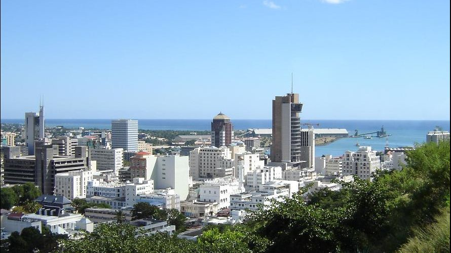 Port Louis skyline and harbour